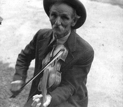 Fiddlin Bill Hensley Mountain Fiddler Asheville Nc Poster by Historic Photos