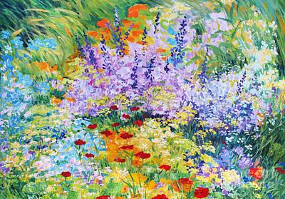 Field Flowers At Tzipori Poster by Betty Rubinstein