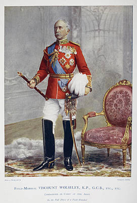 Field-marshal Viscount Wolseley Poster by British Library