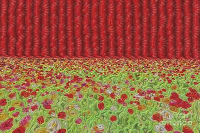 Field Of Flowers Abstract Poster by Liane Wright