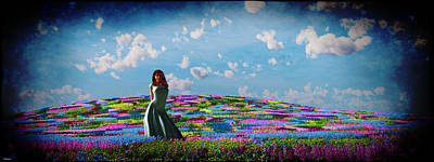 Field Of Flowers... Poster