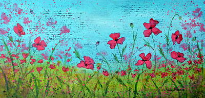 Field Of Poppies Poster by Carla Parris