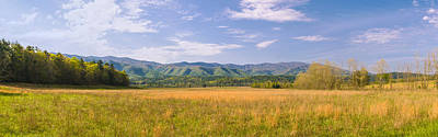 Field With A Mountain Range Poster by Panoramic Images
