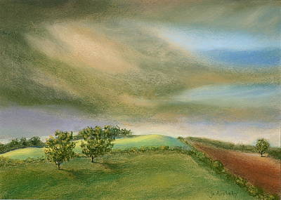 Poster featuring the painting Fields In The Sun by Jo Appleby