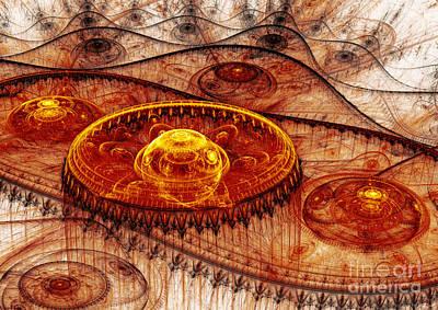 Fiery Fantasy Landscape Poster