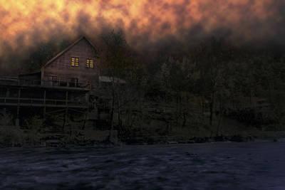 Fiery Sky Over Dawt Mill - Missouri Poster by Jason Politte