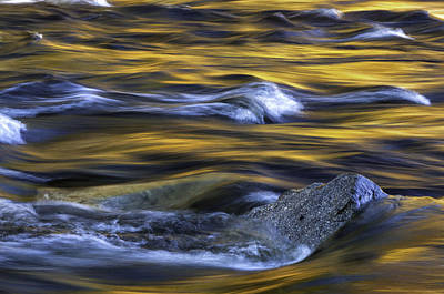 Fiery Swirls Of The Swift River-nature Abstract By Thomas Schoeller  Poster by Thomas Schoeller