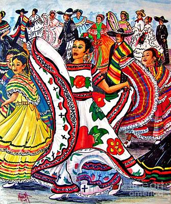 Fiesta Parade Poster by Marilyn Smith