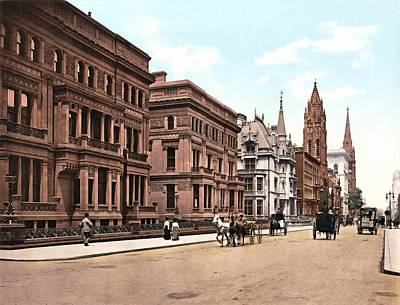 Fifth Avenue At Fifty First Street New York 1900 Poster