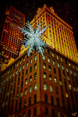 Poster featuring the photograph Fifth Avenue Holiday Star by Chris Lord