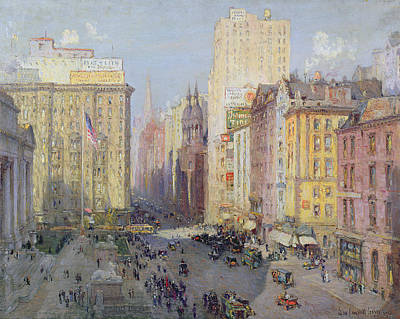 Fifth Avenue, New York, 1913 Oil On Canvas Poster
