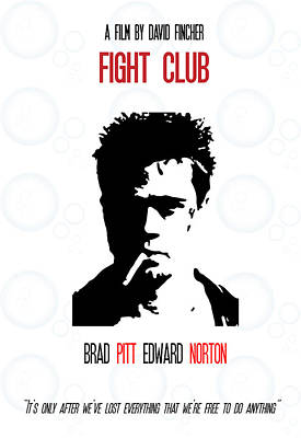 Fight Club Poster Art Poster
