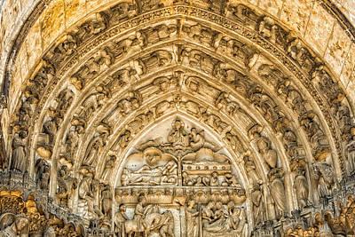 Gothic Archivolt At Chartres Poster by Jurgen Lorenzen