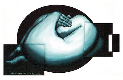 Poster featuring the painting Figure Untitled No.6 by Fei A