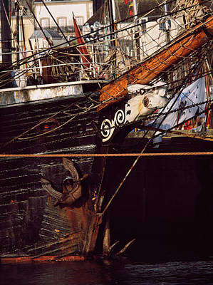 Figurehead On Tall Ship In Douarnenez Poster