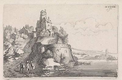 Figures At A Fort In A River Landscape, Jan Van De Velde II Poster by Jan Van De Velde Ii