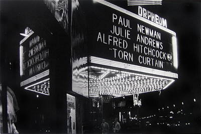 Film Homage Alfred Hitchcock Torn Curtain 1966 Orpheum Theater St. Paul Minnesota 1966 Poster by David Lee Guss