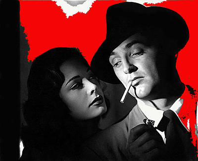 Film Noir Jane Greer Robert Mitchum Out Of The Past 1947 Rko Color Added 2012 Poster