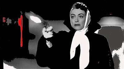 Film Noir Joan Crawford Jack Palance Sudden Fear 1952 Rko Publicity Photo Color Added 2012 Poster