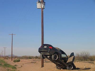 Film Noir Walter Hill Bruce Dern Ryan O'neal The Driver 1978 Car  Telephone Wire Arizona City Az Poster