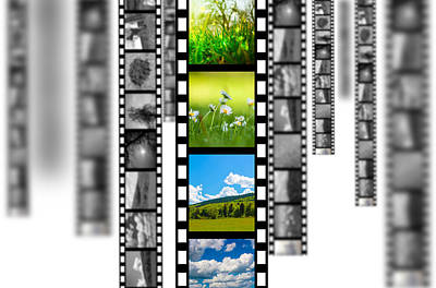 Film Strip Poster by Bahnean Teodor Andrei
