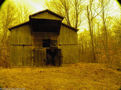 Poster featuring the photograph Filtered Barn by Nick Kirby