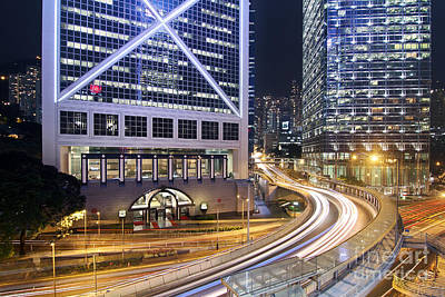 Financial District Of Hong Kong Poster by Lars Ruecker
