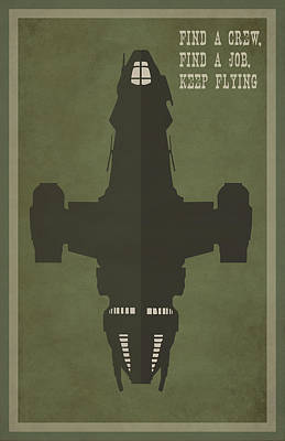 Find A Crew Find A Job Keep Flying Poster by Catherine Black