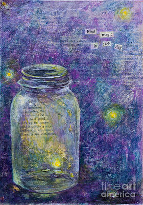 Poster featuring the mixed media Find Magic by Melissa Sherbon
