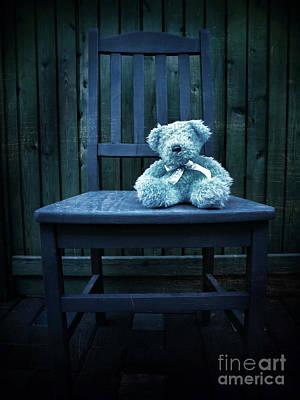 Finding Mr Blue Bear Poster by Tara Turner