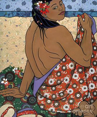 fine art figure painting - Calypso Poster
