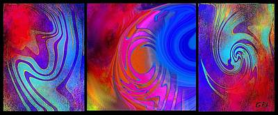 Fine Art Painting Original Digital Abstract Warp 3 Poster