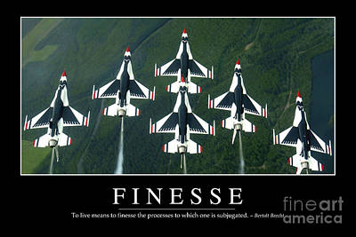 Finesse Inspirational Quote Poster by Stocktrek Images