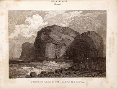 Fingal's Cave On Staffa Poster