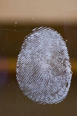 Fingerprint On Glass Poster