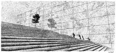 Fingerprint - Stairway Poster by Nicolas Jolly
