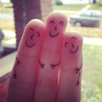 Fingers Hug Poster