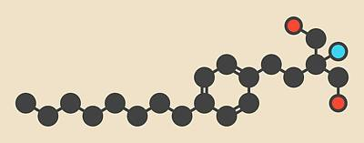 Fingolimod Drug Molecule Poster by Molekuul