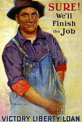 Finish The Job Poster by Gerrit Albertus Beneker