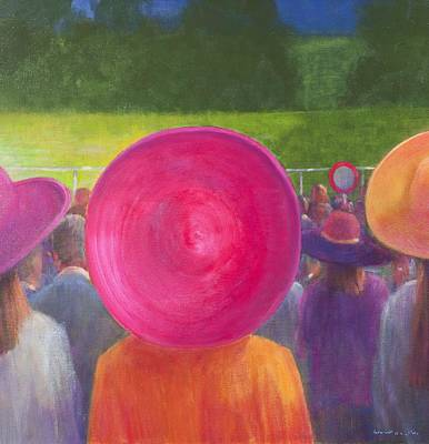 Finishing Post, Hats, 2014 Oil On Canvas Poster by Lincoln Seligman