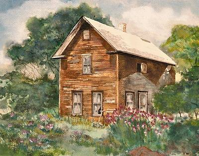 Poster featuring the painting Finlayson Old House by Susan Crossman Buscho