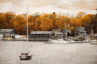 Finn's Harborside East Greenwich Rhode Island Poster by Lourry Legarde
