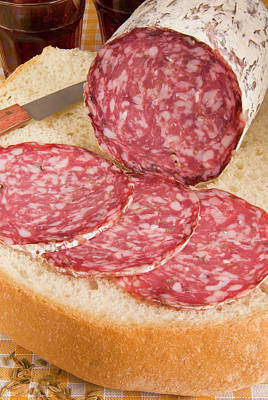Finocchiona, Tuscan Salami With Fennel Poster