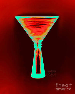 Fire And Ice Martini Poster