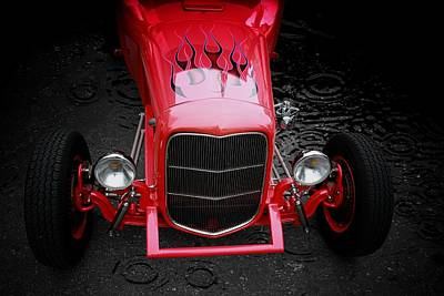 Hot Rod Poster featuring the photograph Fire And Water by Aaron Berg