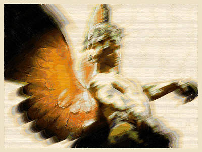 Fire Angel Poster by Tony Rubino