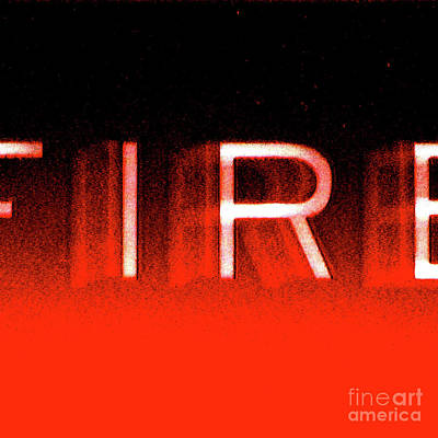 Fire Poster by CML Brown