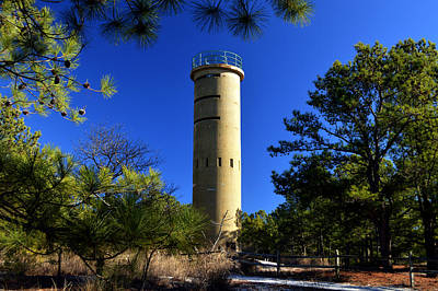 Poster featuring the photograph Fct7 Fire Control Tower #7 - Observation Tower by Bill Swartwout