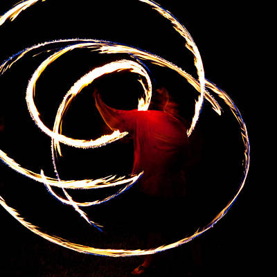 Fire Dancer Poster by Sennie Pierson