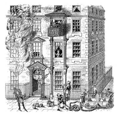 Fire Escape, 1791 Poster by Granger